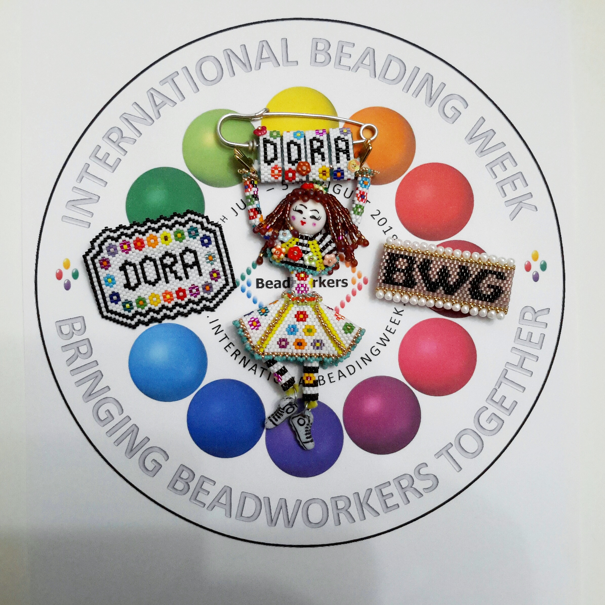 IBW 2019 Bead Inspirations contest entry by Dora, Beadflowers, beadwork by Katie Dean